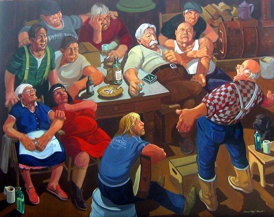 Double hommage pour les 80 ans de tex lecor une for Artistes peintres connus